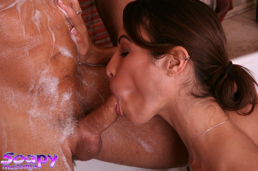 Massage blowjob soapy