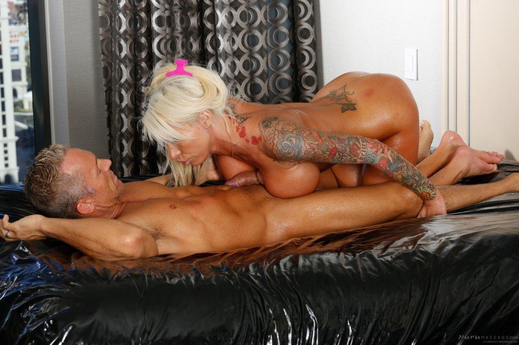 Horny masseuse begs for a cum shower 4